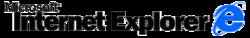 Internet Explorer 3 black blue logo