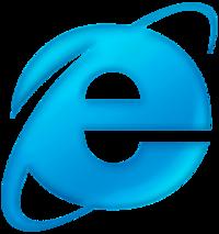 Internet Explorer 6 logo blue shades