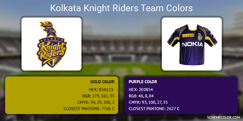 Kolkata Knight Riders - Gold and Purple
