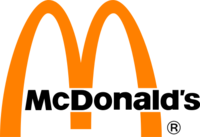 McDonald's Logo 1968–2006 color - Orange - black