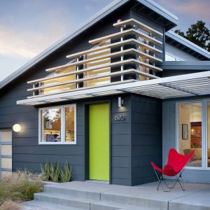 Blue & White Modern exterior color combination