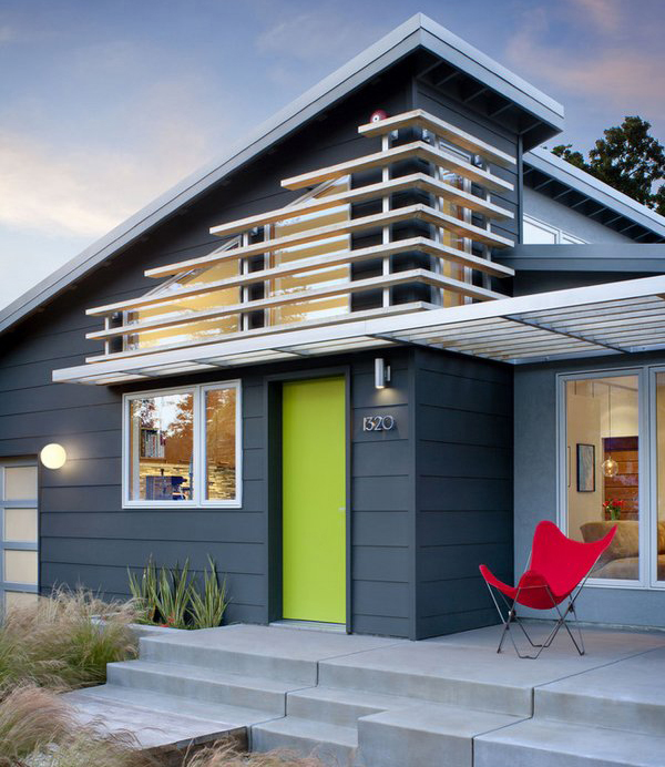 blue white modern color scheme house exterior