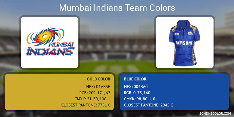 Mumbai Indians - Gold and Blue