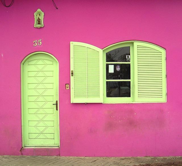 Pink House Exterior Paint Color Combination