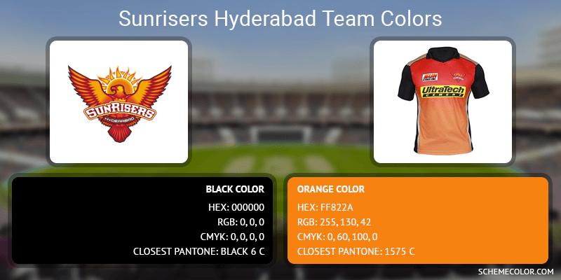 Sunrisers Hyderabad - Black and Orange
