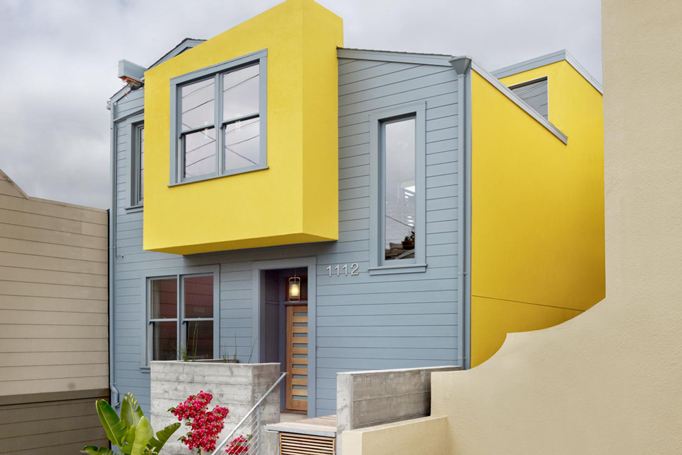 Yellow Gray House color combinations