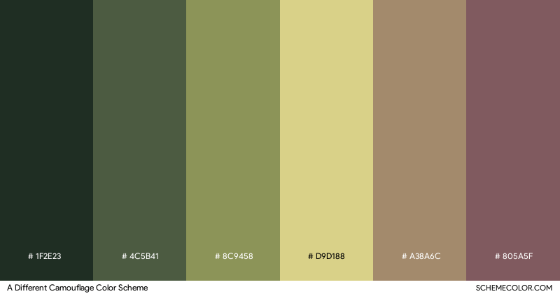 A Different Camouflage color scheme