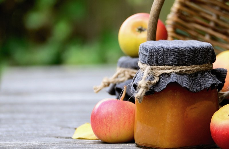 Apples, Jam and Basket