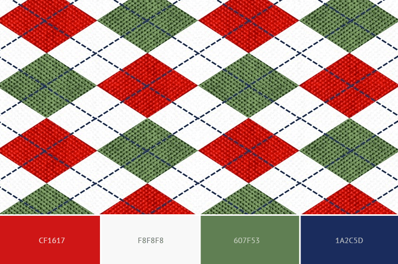 Argyle Christmas Sweater color scheme