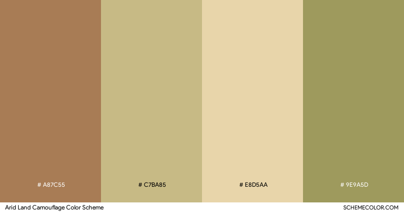 Arid Land Camouflage color scheme