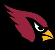 Arizona Cardinals Logo with colors