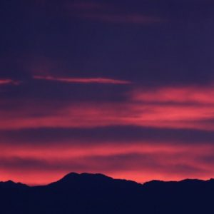 Sunset in Arizona - lovely dark colors