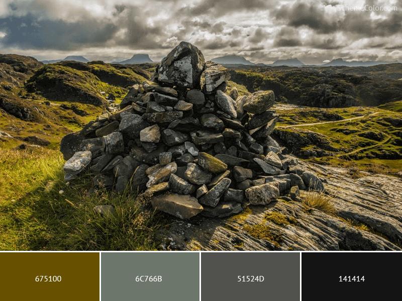 Arranged Rock Pieces - Image colors combination