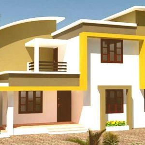 Attractive home with yellow and white color scheme