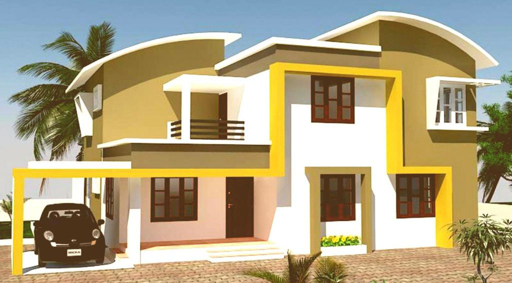Attractive home colour color scheme house exterior for Outside paint colours for house in india