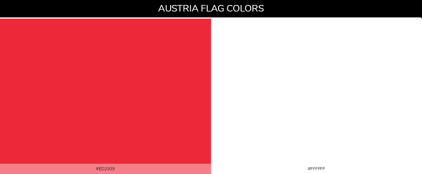 Austria Country flag colors and codes - ed2939, ffffff