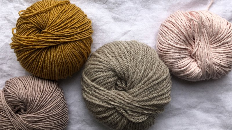 Yarn of autumn/fall colors