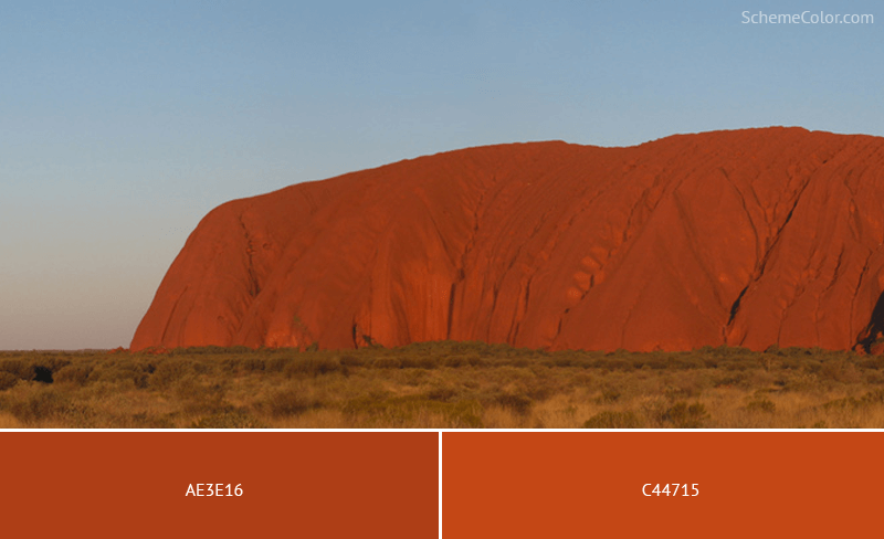 Ayers Rock Color - Image colors combination