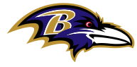 Baltimore Ravens Logo with colors