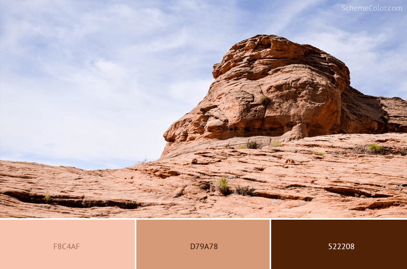 Barren Rock - Image colors combination