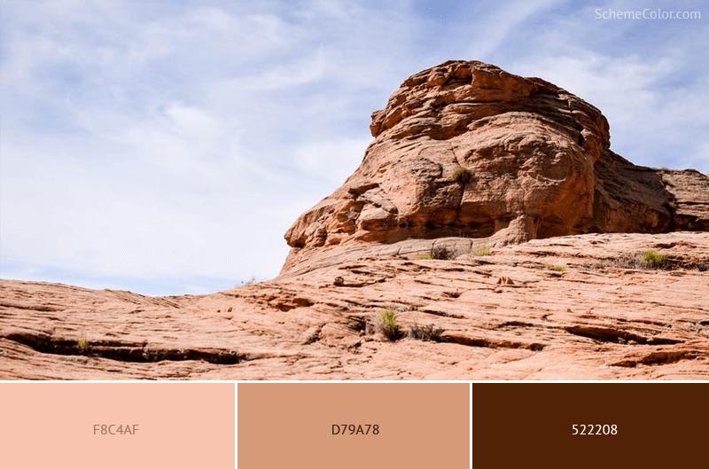 Barren Rock - Image colors combination