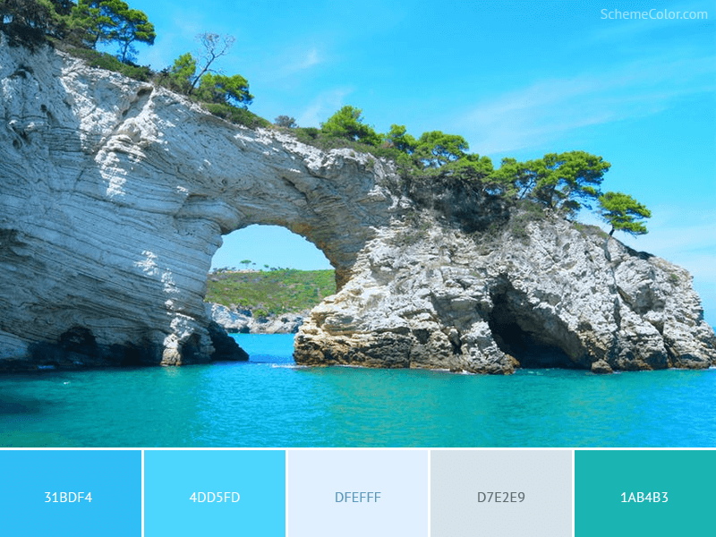 Big Rock On The Ocean - Image colors combination