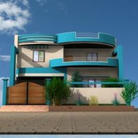 Blue modern exterior house paint colors