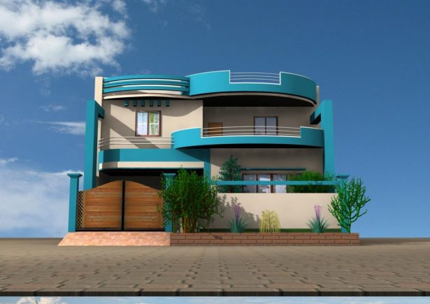 Blue Modern Color Scheme House Exterior