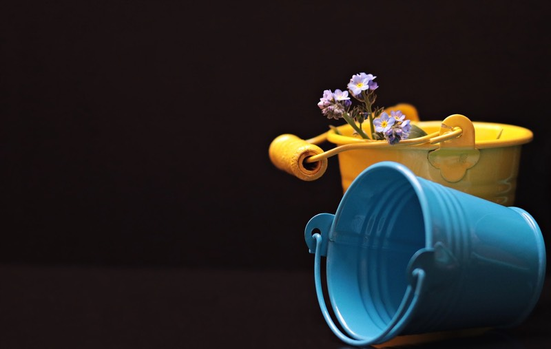 Blue and Yellow Buckets