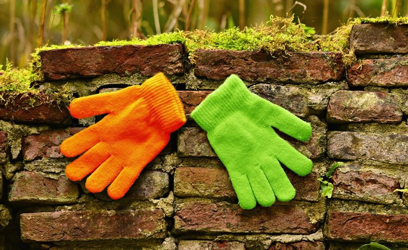Bright colored gloves