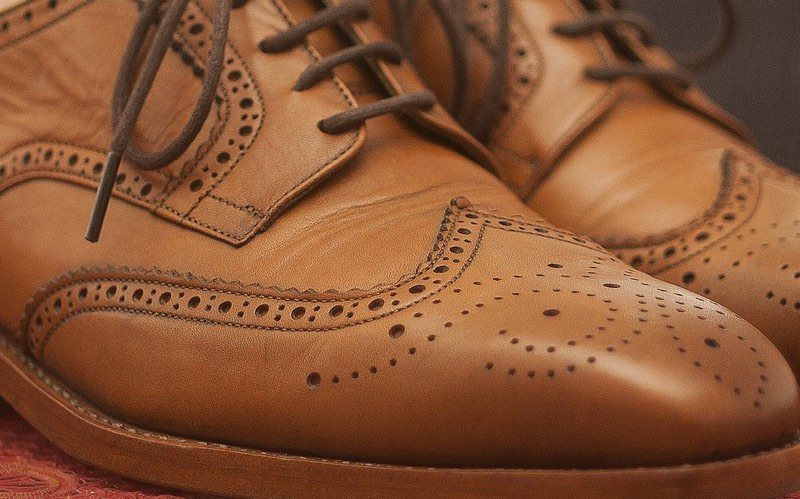 Leather brogues brown