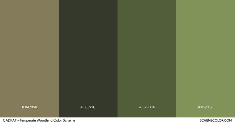 CADPAT – Temperate Woodland color scheme