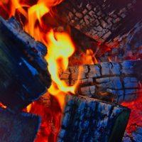 Campfire At Night image colors