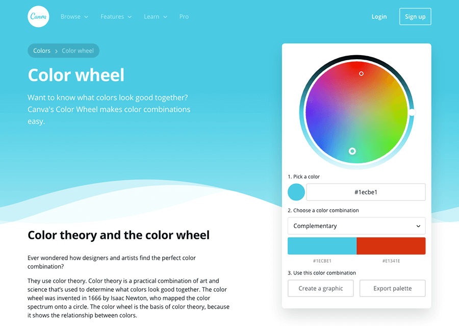 Canva's Color Wheel Preview