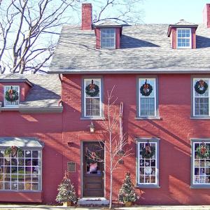 Carmine Pink & Gray House