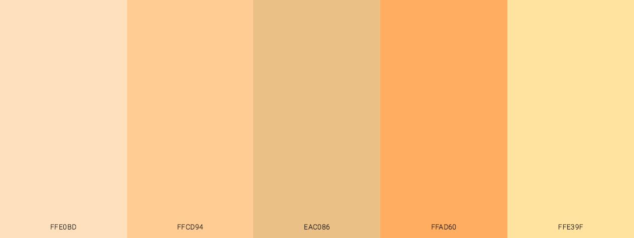 Caucasian Skin Tone color scheme palette