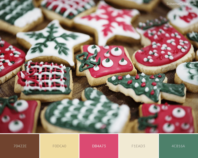 Christmas Cookies color scheme