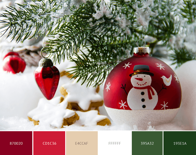 Christmas Snowman color scheme