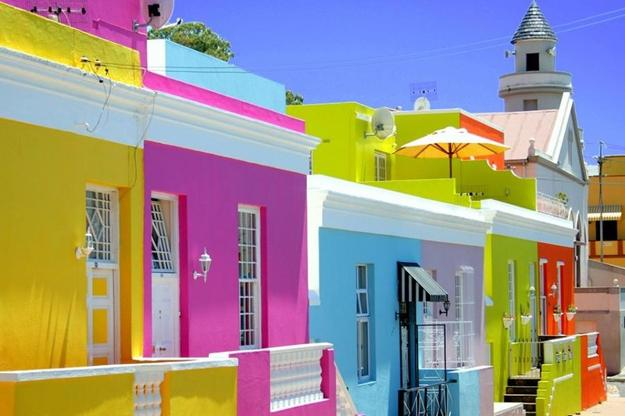 Colorful Street Houses Exterior Painting Ideas Color