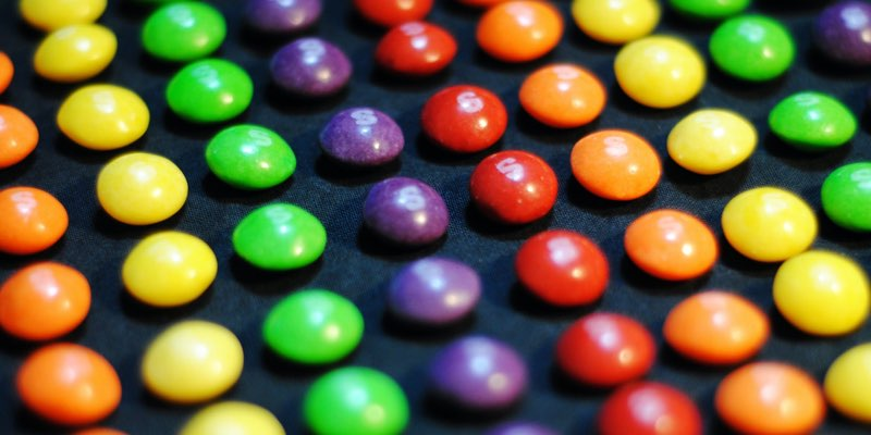 Colorful Skittles candy