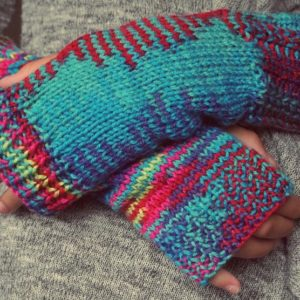 Colorful mittens for the winter