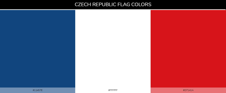 Czech Republic country flags - Blue #11457e, White #ffffff, Red #d7141a