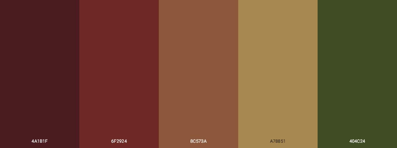Dark Autumn Color Scheme