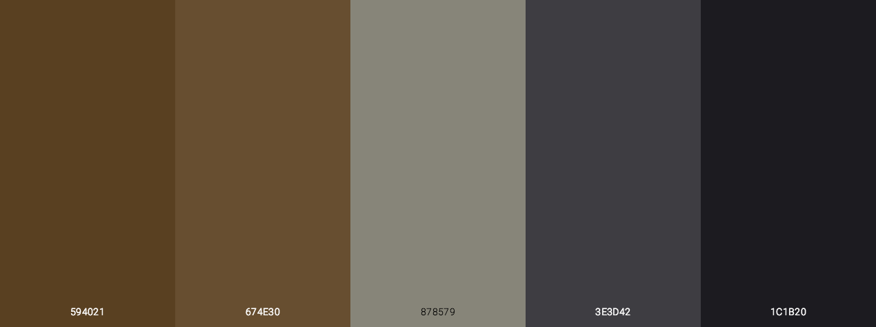 Dark Halloween Color Palette