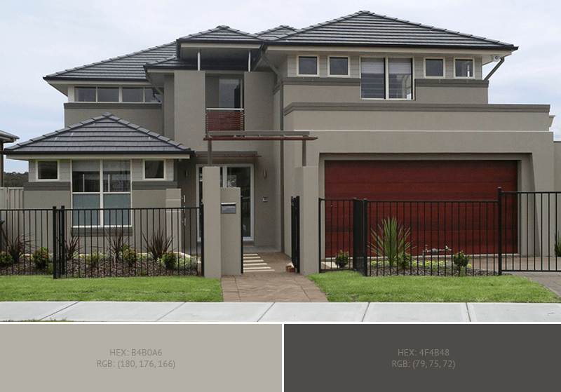 this lovely house exterior has 2 colors combination with silver chalice and quartz - Exterior House Colors