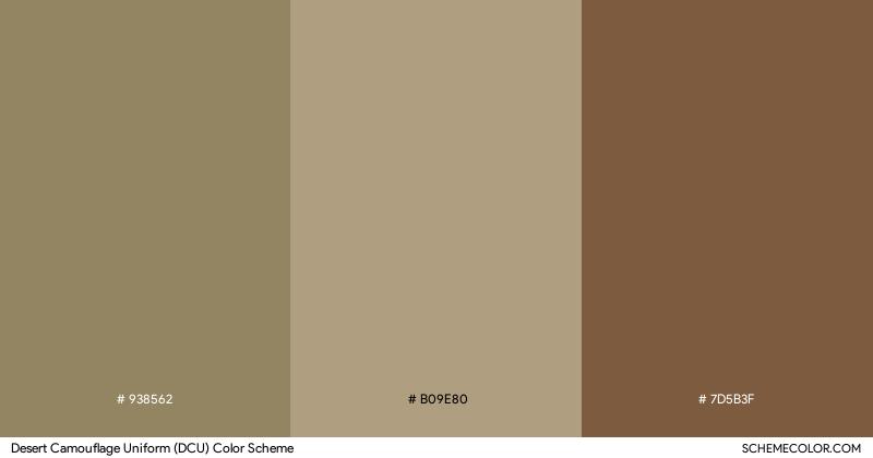 Desert Camouflage Uniform (DCU) color scheme