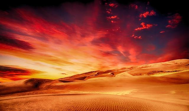 Desert Landscape color codes