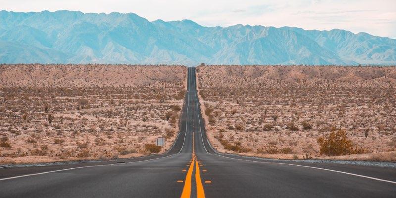 Long road till the horizon