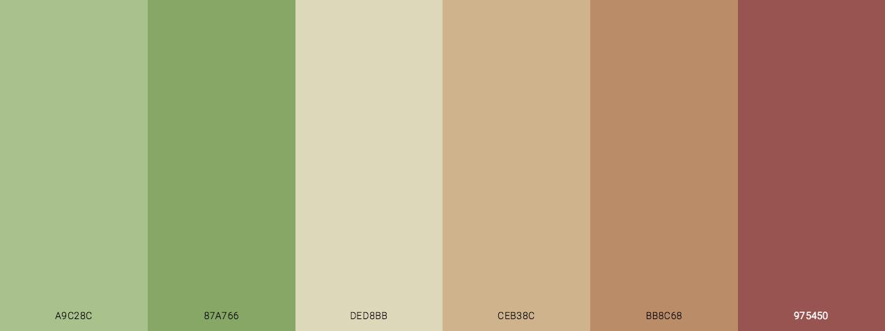 Dull Autumn Color Scheme