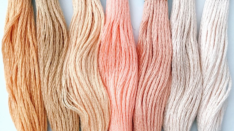 Embroidery threads -pastel colors